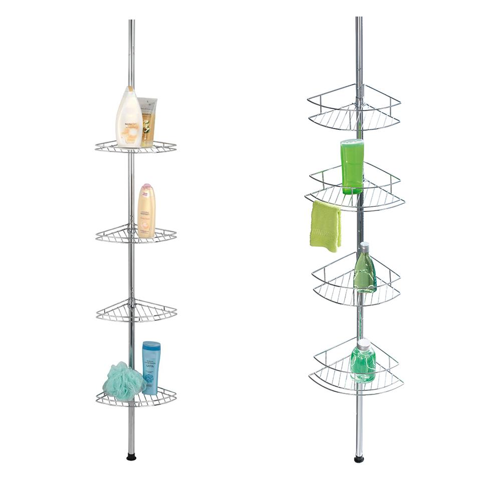 wenko teleskop eckregal edelstahl rostfrei duschablage duschregal badregal neu ebay. Black Bedroom Furniture Sets. Home Design Ideas