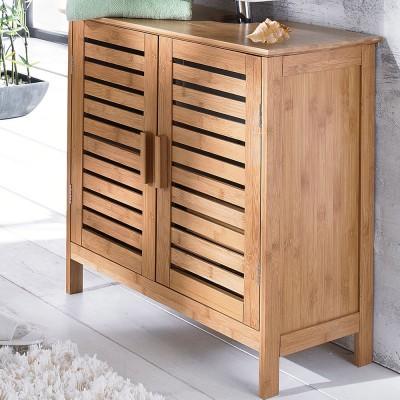waschbeckenschrank bamboo braun waschbeckenunterschrank badschrank bambus ebay. Black Bedroom Furniture Sets. Home Design Ideas