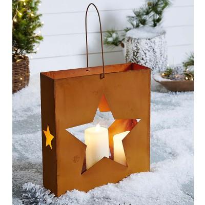 windlicht rost stern dekolicht weinterdeko. Black Bedroom Furniture Sets. Home Design Ideas