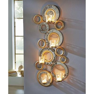 wandteelichthalter circle teelichthalter wanddeko kerzenhalter deko kerze ebay. Black Bedroom Furniture Sets. Home Design Ideas