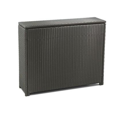 kissenbox rattan schmal braun auflagenbox aufbewahrungsbox gartenbox neu ebay