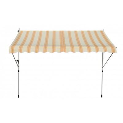 1plus balkon markise windschutz klemmmarkise sonnensegel 3 0 x 1 2 m beige gelb ebay. Black Bedroom Furniture Sets. Home Design Ideas
