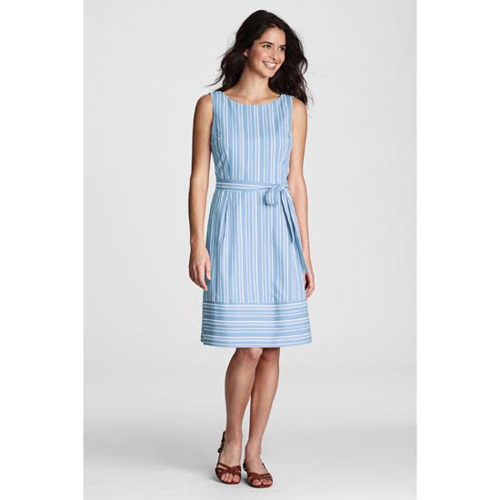 LANDS' END Damen Sommerkleid Damenkleid Kleid ärmellos ...