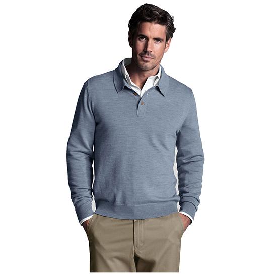 lands end herren pullover pulli troyer herrenpullover mit polo kragen grau ebay. Black Bedroom Furniture Sets. Home Design Ideas