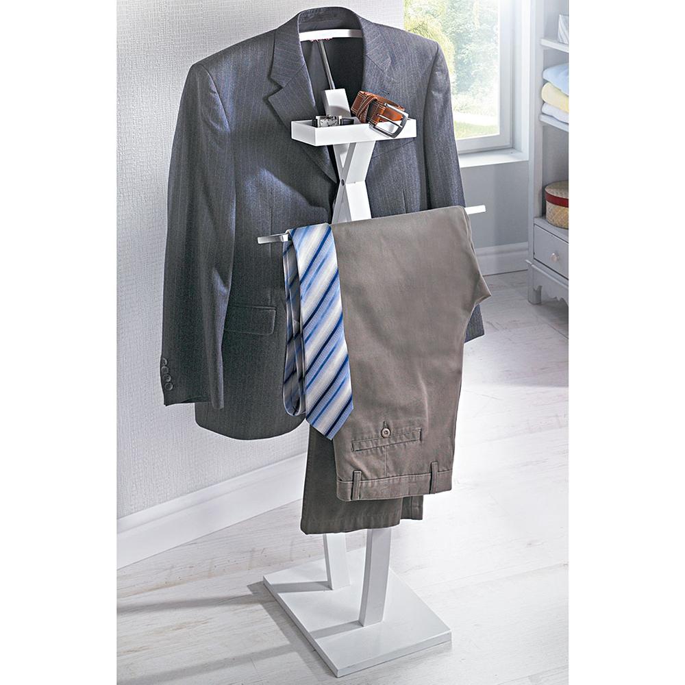 herrendiener alfred wei kleiderst nder kleiderbutler stummer diener neu ovp ebay. Black Bedroom Furniture Sets. Home Design Ideas