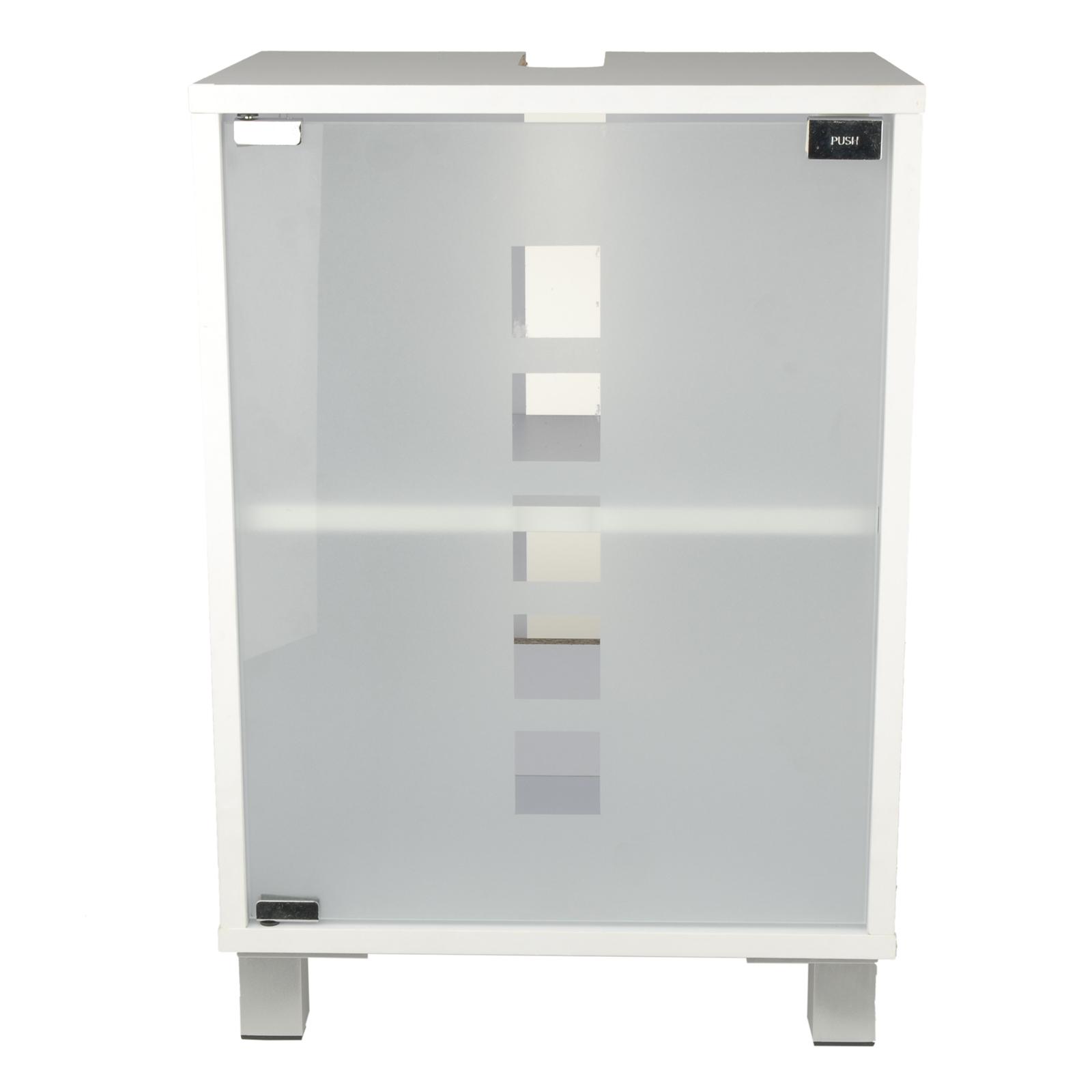 waschtischunterschrank badschrank badezimmerm bel glast r schrank wei neu ovp ebay. Black Bedroom Furniture Sets. Home Design Ideas