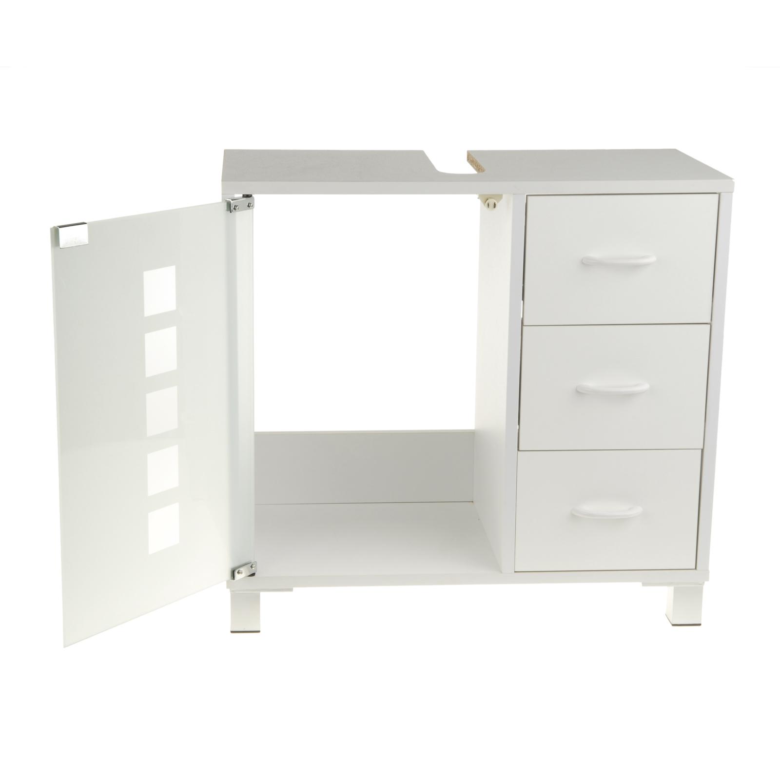 waschtischunterschrank mit 3 schubladen in wei waschtisch unterschrank neu ovp 4250541111420 ebay. Black Bedroom Furniture Sets. Home Design Ideas