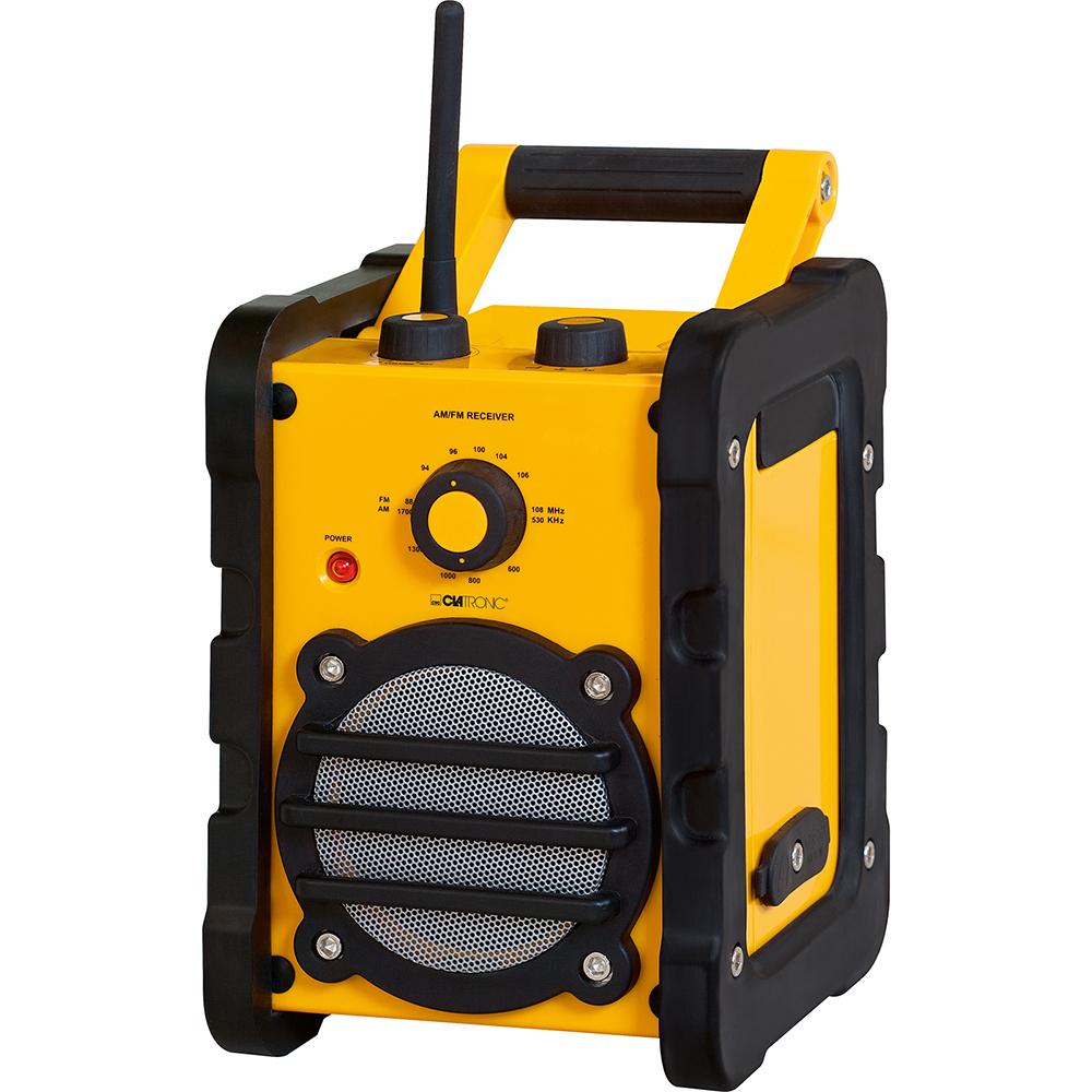 clatronic baustellenradio br 816 gelb werkstattradio baustellen