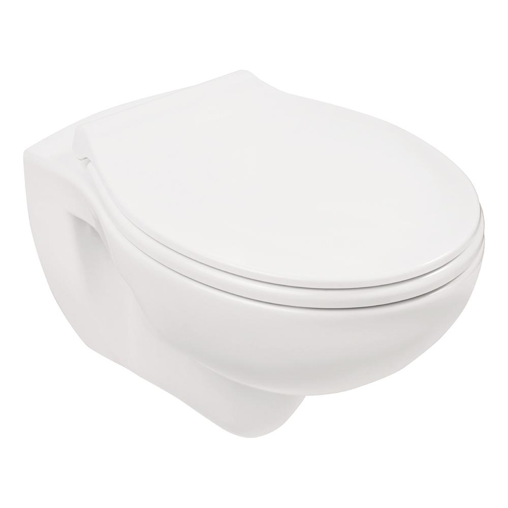 SANLUX Spülrandloses Wand-WC + WC-Sitz Toilette Klo