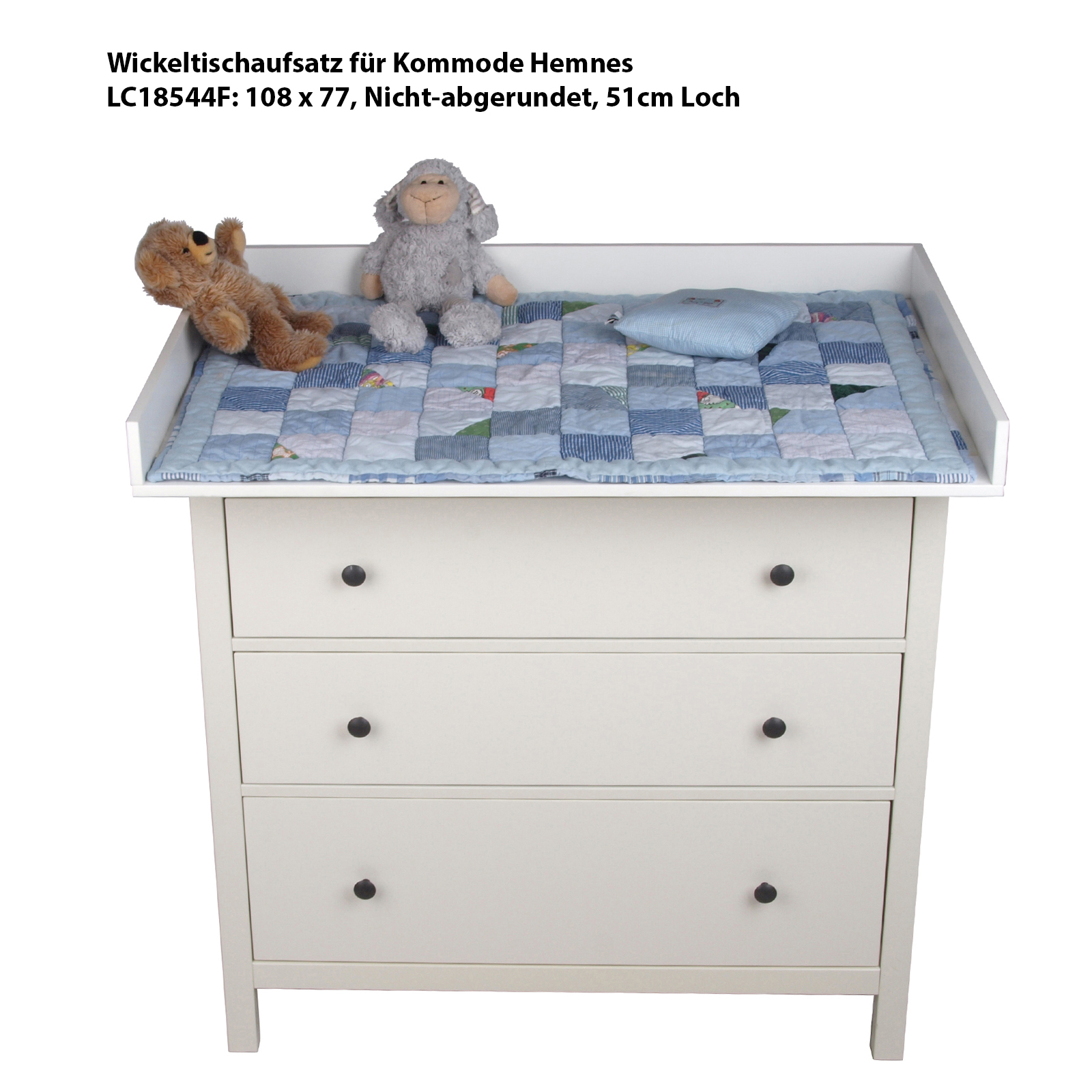 wickeltischaufsatz xxl wickelaufsatz f r ikea kommode malm. Black Bedroom Furniture Sets. Home Design Ideas