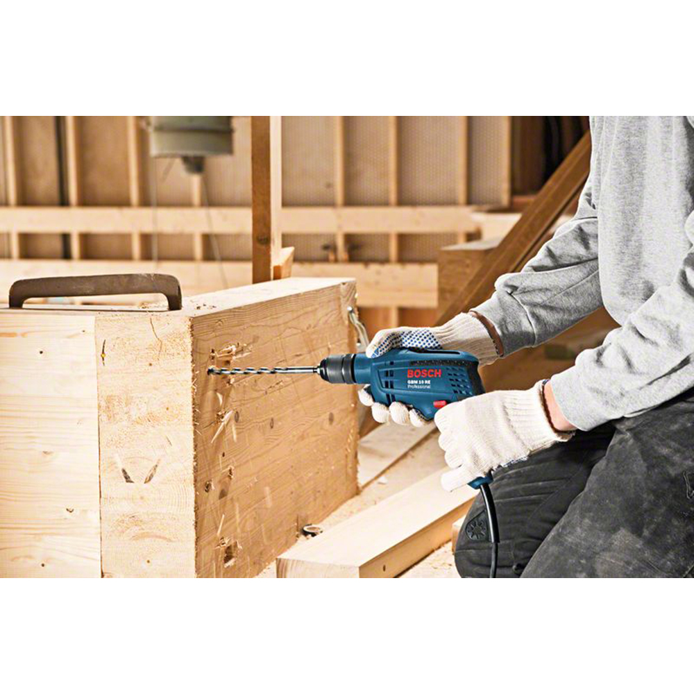 bosch blau professional bohrmaschine gbm 10 re schnellspannbohrfutter 600 w neu ebay. Black Bedroom Furniture Sets. Home Design Ideas