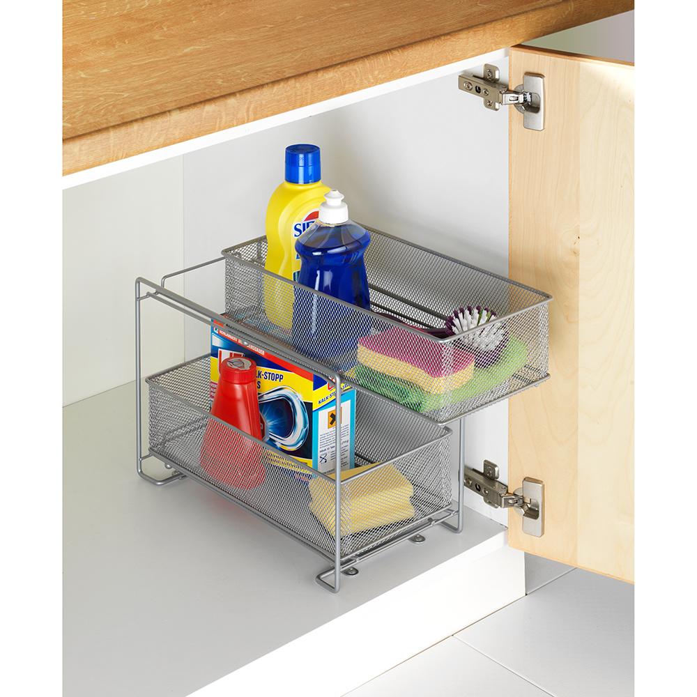wenko schubladenregal 2 etagen küchenschrank badschrank