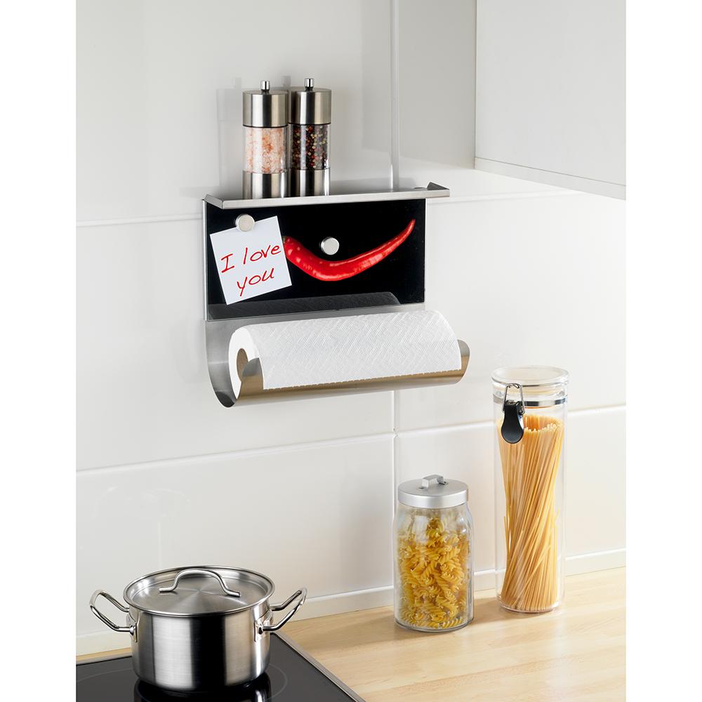 WENKO Küchenrollenhalter Küchenrolle Magnetischer Rollenhalter mit ...
