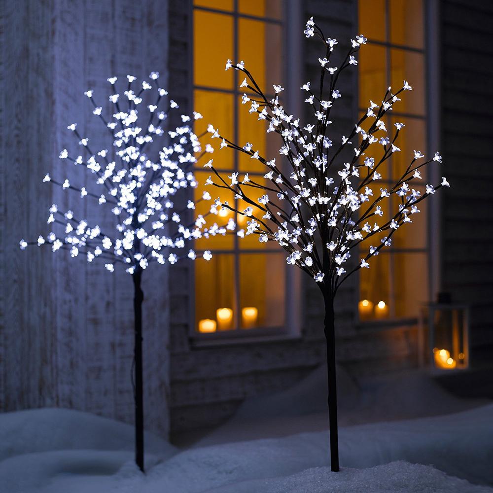 led baum bl tenzauber lichtbaum gartendeko au en weihnachtsbeleuchtung xmas ebay. Black Bedroom Furniture Sets. Home Design Ideas