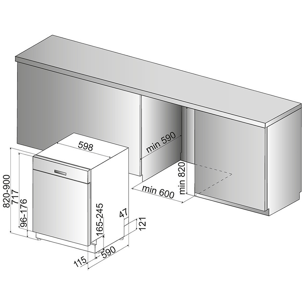 bauknecht unterbau geschirrsp ler buc 3c32 x sp lmaschine sp ler a frei haus ebay. Black Bedroom Furniture Sets. Home Design Ideas