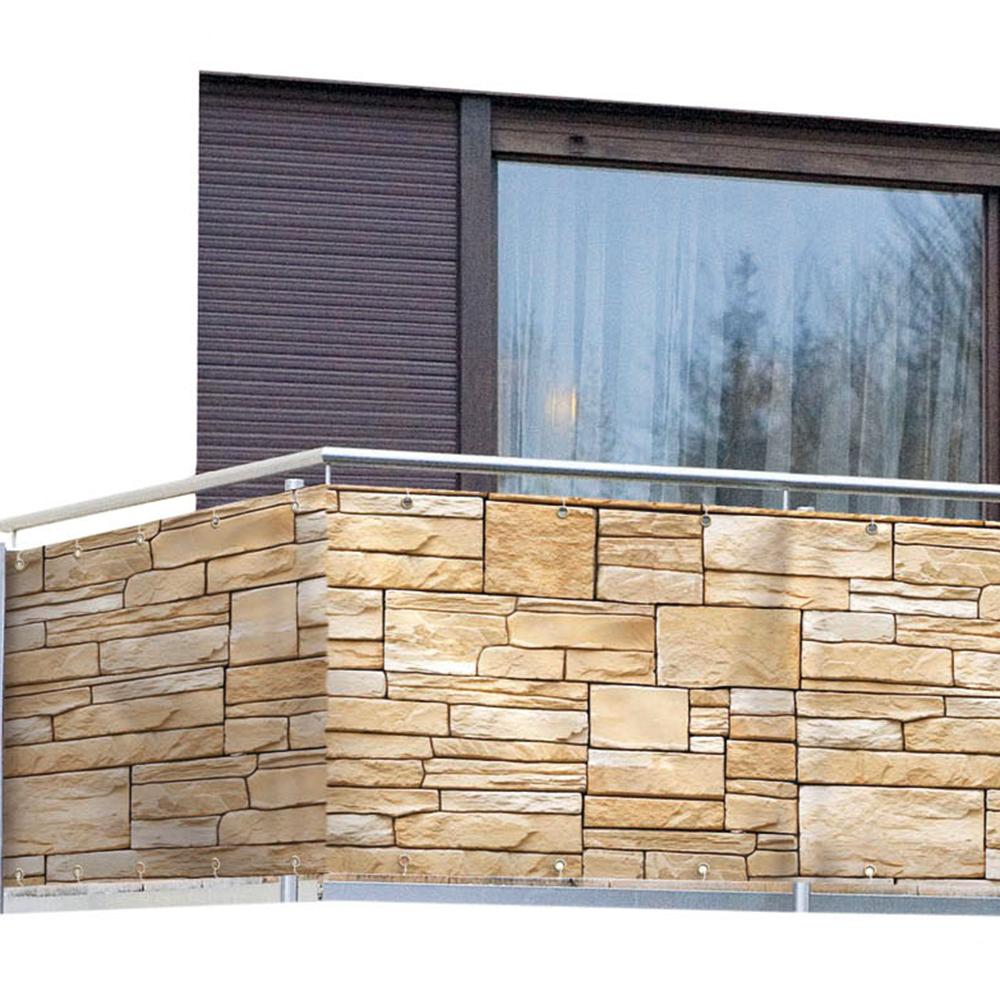 wenko sichtschutz mauer windschutz balkon terrassenschutz. Black Bedroom Furniture Sets. Home Design Ideas