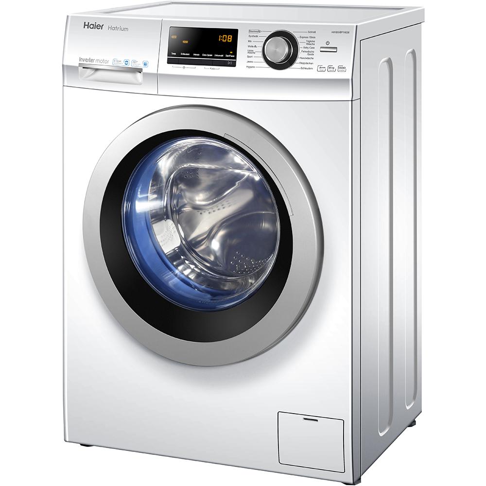 haier 8 kg waschmaschine hw80 b14636 frontlader a 1400 u min endzeitvorwahl ebay. Black Bedroom Furniture Sets. Home Design Ideas