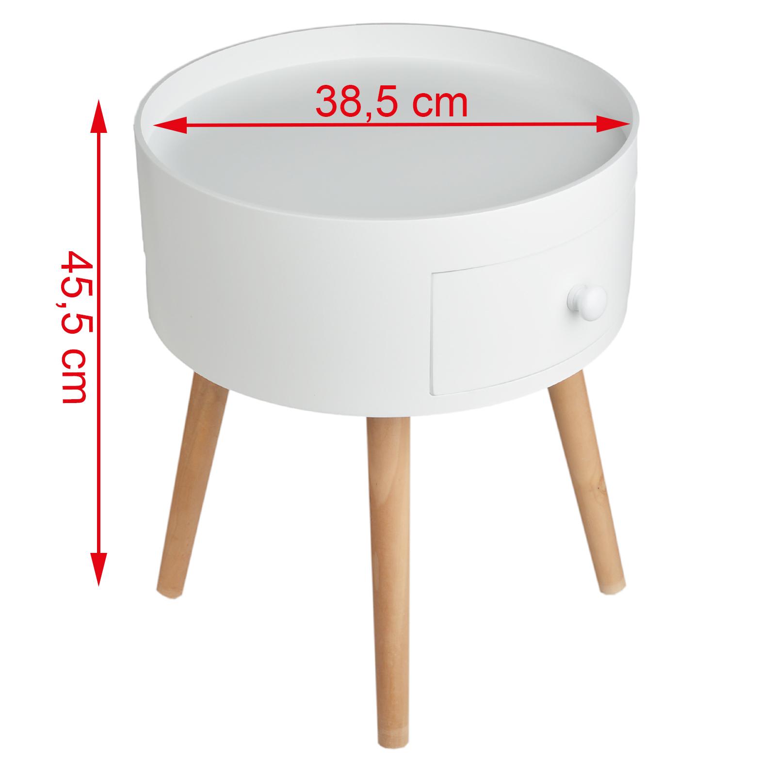 Beistelltisch schublade rund telefontisch couchtisch for Beistelltisch rund mit schublade