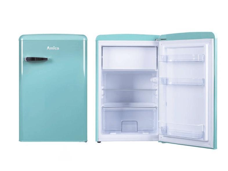 Amica Kühlschrank Geht Nicht Mehr : Amica ks 15612 t retro kühlschrank a gefrierfach türkis 106 liter