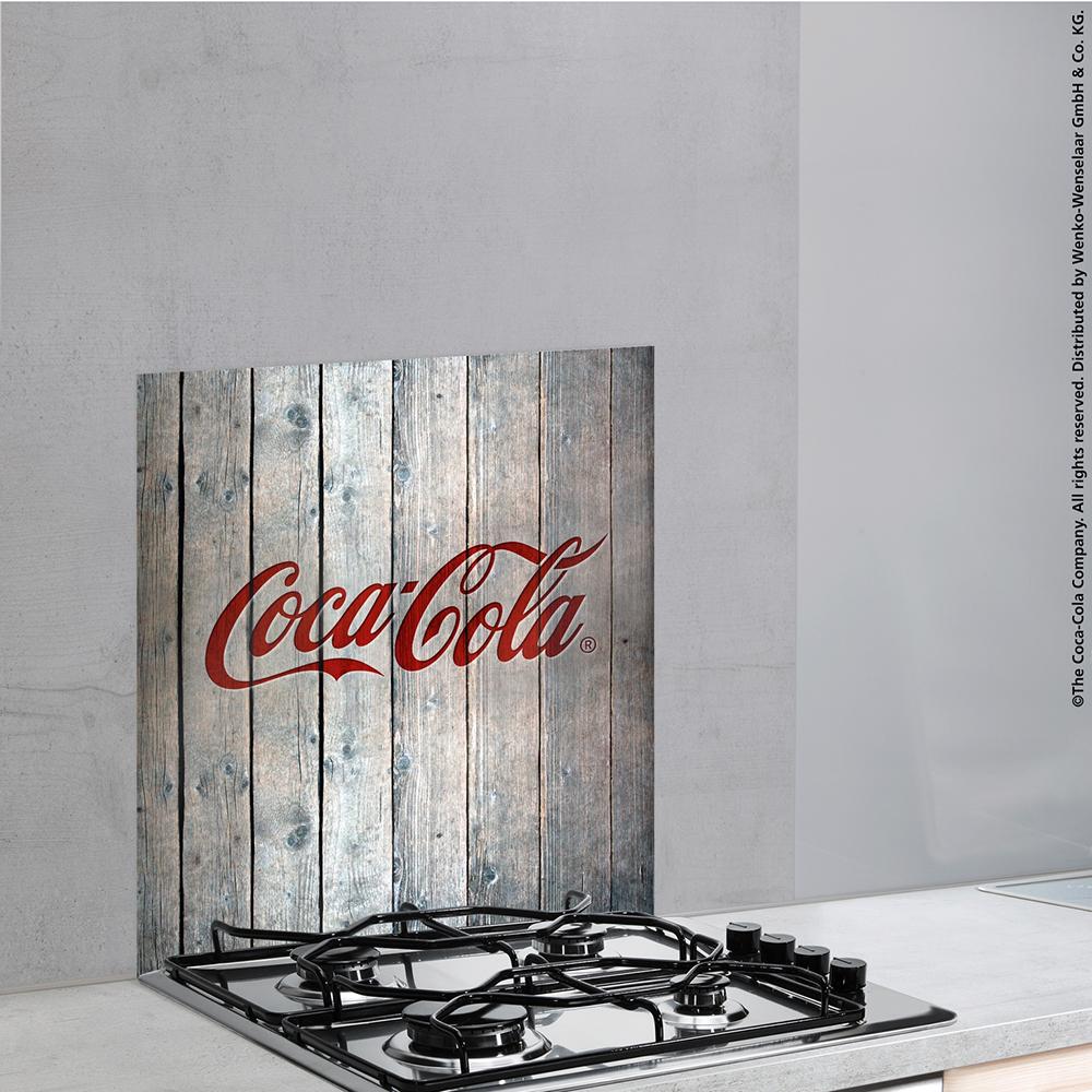 Wenko Glasruckwand Spritzschutz Kuchenruckwand Blende Coca Cola Wood