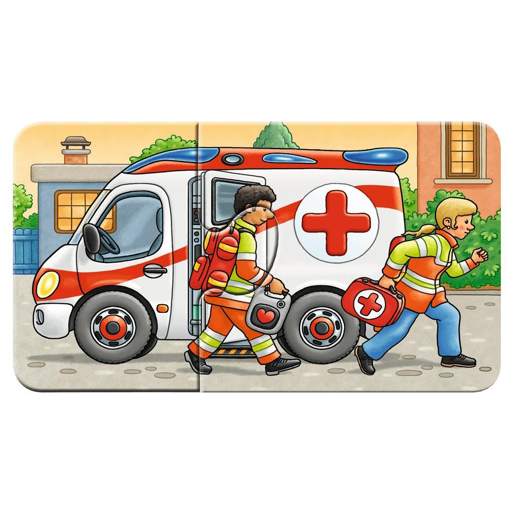 RAVENSBURGER Kinderpuzzle Erstes Puzzle Allerlei Fahrzeuge ...