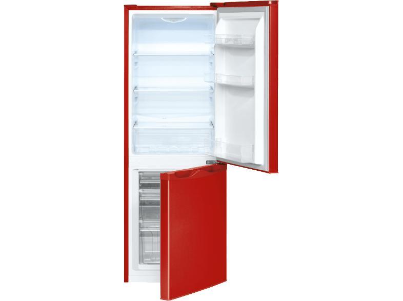 Bomann Kühlschrank Einstellung : Bomann kühl gefrierkombination kg 322 rot a 165l kühlschrank