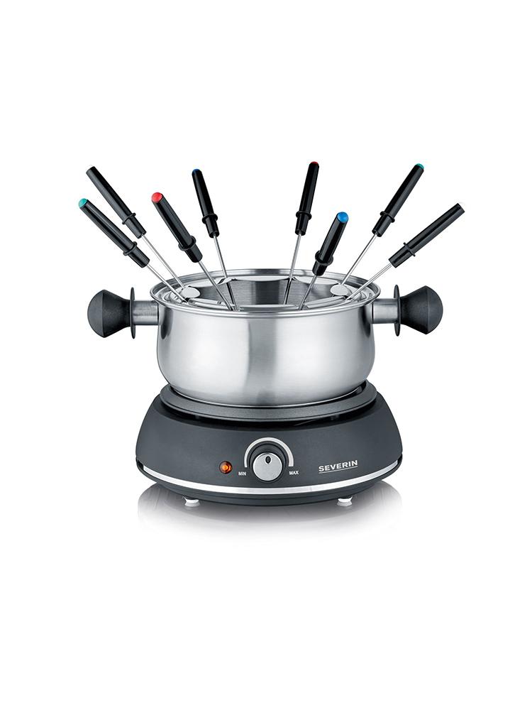 max SilverCrest Fondue-Set für Käse Öl /& Brühe 3L 1500W Edelstahl Schwarz NEU