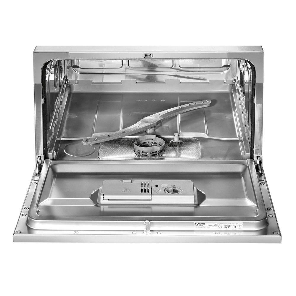 Spüler Spülmaschine 6 Maßgedecke BOMANN Tisch-Geschirrspüler TSG 708 silber A