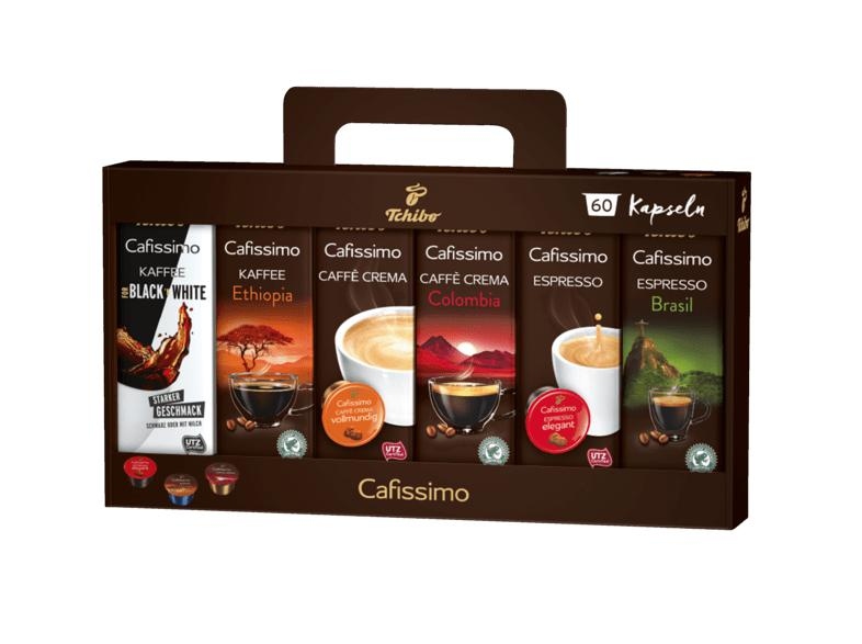 60 Kapseln TCHIBO CAFISSIMO Pure C Espresso, Tee, Filterkaffee, Caffè Crema